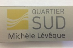 metal badge-quartier
