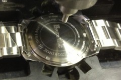 diamond engraved watch