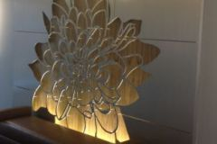 flower cut aluminum